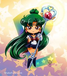 .: Chibi Super Sailor Pluto :. by Mako-Fufu  Prints, T-Shirts, Stickers, Iphone, Samsung Galaxy and Ipod cases available here ♥  http://www.redbubble.com/people/makofufu/collections/259924-sailor-moon
