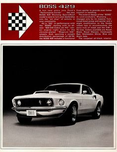 1969 Mustang Boss 429 There's no better mustang! Ford Mustang 1969, Ford Mustang Shelby Cobra, Mustang Cars, Ford Mustangs, Classic Mustang, Ford Classic Cars, Car Man Cave, Pony Car, Ford Motor Company