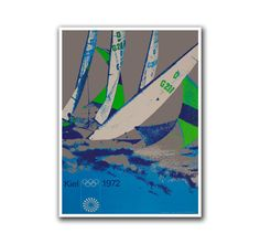 Retro Poster Travel Art Olympics Sailing by VintageSportsPosters, $9.00