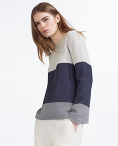 TRI-COLOUR SWEATSHIRT-View all-NEW THIS WEEK-Woman-COLLECTION SS16 | ZARA Israel