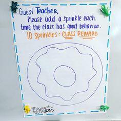 sub teacher classroom management First Grade Classroom, Kindergarten Classroom, Future Classroom, Toddler Classroom, Classroom Teacher, Teacher Binder, Classroom Behavior Management, Class Management, Behavior Plans