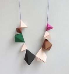 DIY Origami Bipyramid Necklaces by Mr Printables