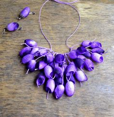 necklace silk cocoon earrings lilac necklace pendants cocoons