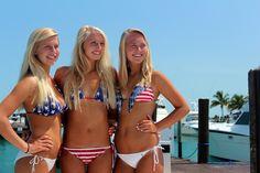 american baby American Baby, American Pride, Patriotic Swimwear, Blond, Priscilla Barnes, Usa Bikini, American Flag Bikini, Female Athletes, Swimsuits