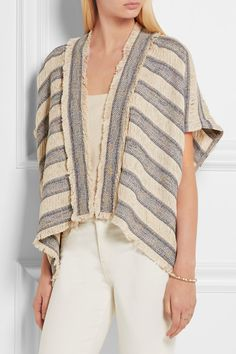 Maje | Woven cotton-blend cardigan | NET-A-PORTER.COM