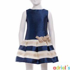 Vestido de ceremonia para niña de Kiriki Moda Infantil.