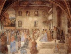 Cosimo di Lorenzo Rosselli | Cosimo Rosselli · Il miracolo del calice con autoritratto · 1481-86 | Cappella del miracolo del Sacramento · Chiesa di Sant'Ambrogio · Firenze