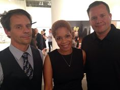Tarble Arts Center's new Director Rehema Barber (middle), Assistant Director Michael Schuetz (left), and Professor of Painting and Drawing and Graduate Coordinator Chris Kahler (right) at EXPO CHICAGO. #expochicago