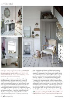 My Country Living Feature - it was a dream come true to have my home featured in Country Living. Images by Robert Sanderson and words/styling by Naomi Jones. Cottage Chic Living Room, English Country Style, Country Living Magazine, Mount Pleasant, Color Schemes, Shabby Chic, Furniture, Home Decor, House Ideas