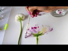 Watercolor Flower Tutorial | Mixing colors | Wet to wet technique - YouTube #watercolorarts