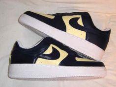 Black Cream Custom Painted AF1 Sneakers