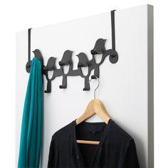 Birdseye Over the Door Rack in Black by Umbra®   Organize.com