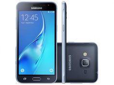 """Smartphone Galaxy J3 2016 da Samsung. Possui design elegante com tela de 5.0"""" HD Super Amoled, ótimo também para você arrasar nas selfies com a câmera frontal de 5 MP ou fazer vídeos com a traseira de 8 MP. Com o processador Quad-Core 1.5GHz seu aparelho será ágil e potente em qualquer situação, sem aquelas travadinhas chatas na hora de curtir jogos ou assistir a vídeos. E para você não se preocupar com a memória, ele ainda tem suporte para cartão Micro SD de até 64 GB."""