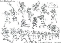 Little Witch Academia (リトル ウィッチ アカデミア) Full-color character designs for Little Witch Academia, illustrated by Yoh Yoshinari (吉成曜) were included in the March 2013 issue of Animestyle Magazine (Amazon Japan), along side an interview with the creator.
