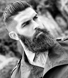 Manly Men's Haircuts With Beards