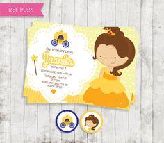 Princess birthday invitations printable por CreativaDesignCo