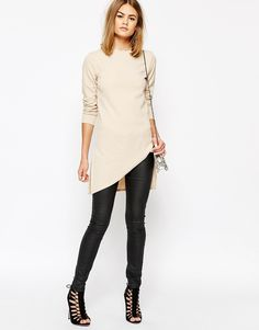 Daisy Street Tunic Top with Assymetric Hem