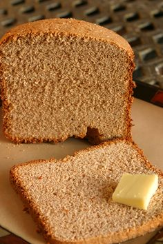Stone Ground Whole Wheat Bread In The Bread Machine Recipe from Emily Artisan Bread Recipes, Healthy Bread Recipes, Yummy Recipes, Yummy Food, Bread Machine Wheat Bread Recipe, Bread Machine Recipes, Baking Appliances, Whole Wheat Bread, Our Daily Bread