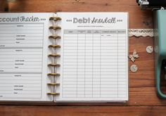 DEBT SNOWBALL Happy Planner Budget Inserts by NatalieRebeccaPrints