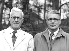 The real Barnes Wallis on the left and Michael Redgrave who portrayed him in the 'Dambusters'. Sir Barnes Wallis served in The Artists Rifles during WWI. Air Force Bomber, British History, Modern History, Lancaster Bomber, Japanese Film, Band Of Brothers, Royal Air Force, Wallis, Worlds Of Fun