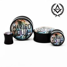 Wasted Youth in Nebula BMA Plugs 0g 8mm by BMAMOD on Etsy, $16.00