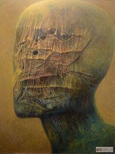 Sprawdź historię licytacji, zobacz jaka cena padła na aukcji Zdzisław BEKSIŃSKI, Portret, 1981.
