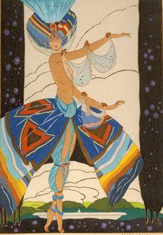 "via » Umberto Brunelleschi Art Deco Costume Illustrator ""Say, did you see?"")"