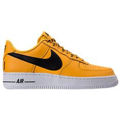 Men'S Nba Air Force 1 '07 Lv8 Casual Shoes, Yellow