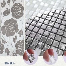 Crystal Glass Mosaic Tiles for Bathroom Kitchen Backsplash Wall Stickers Mirror Puzzle Rose Gold Tiles Mosaic Silver Plated(China (Mainland))
