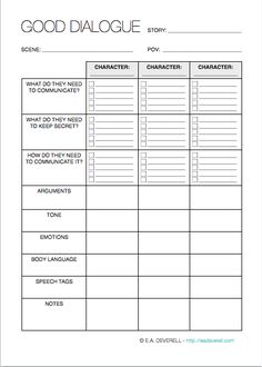 writing dialogue worksheet