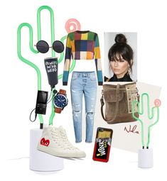 """""""😎"""" by lindacorp on Polyvore featuring Sunnylife, House of Holland, H&M, Converse, FOSSIL and Sony"""