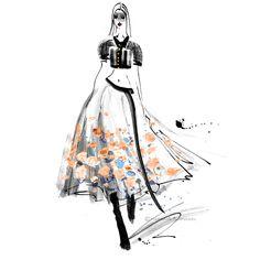 #chanel #parisfashionweek #ss2015 #fashionillustration #fashionsketch #drawing #ink #margaretegockel