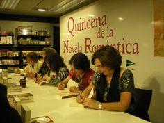 Quincena de la Novela Romántica de El Corte Inglés. Firma de ejemplares, abril 2012