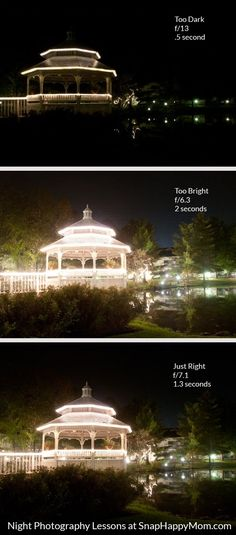 How to Take Night Pictures Of Scenery - Snap Happy Mom - - Want to take night photos of scenery? Here are step by step directions for how to use the manual settings on your DSLR to set your exposure correctly. Photography Basics, Photography Lessons, Photography Camera, Photoshop Photography, Night Photography, Photography Business, Photography Tutorials, Digital Photography, Photography Backdrops