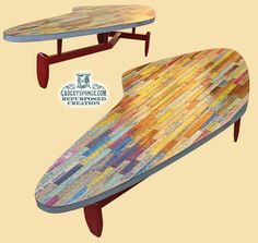 Atomic Yardstick Covered & Redesigned Coffee Table
