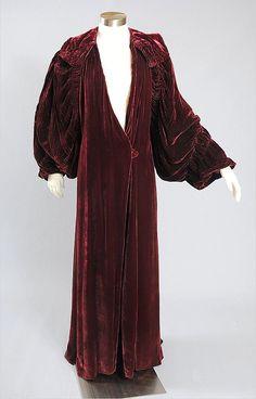 Lavish 1920s-1930s Deco Silk Velvet Dressing Gown from mairemcleod on Ruby Lane.