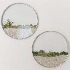Sabia que é possível ter um jardim na parede de sua sala de estar? Feito em alumínio e vidro, estes recipientes que podem ser fixados na...