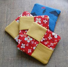 Fun and easy to sew - good 4-H project for Fair The Craftinomicon: Tutorial: Fabric Coasters