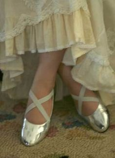with silver shoes
