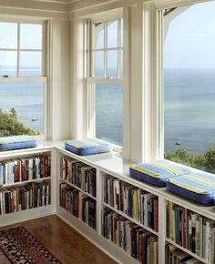 Beach House Book Cases
