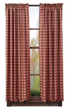 "Our Kendrick Scalloped Lined Short Panel Curtains 63"" are a lovely plaid pattern and you will be able to create privacy in your room or choose to leave your curtains open to let the sunlight in. https://www.primitivestarquiltshop.com/products/kendrick-scalloped-lined-short-panel-curtains-63 #countrystylecurtains"