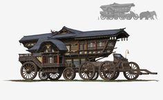 ArtStation - Ancient car, pang p