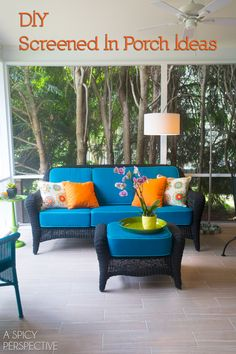 Screened In Porch Ideas - Making the Most of a Small Budget. #diy #remodel #outdoorliving