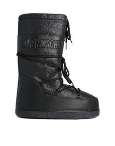 Love Moschino Black Gliter Snow Boots