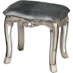 Argente Mirrored Dressing Table Stool A classy dressing table stool that features a high quality cushion top and would compliment any stylish bedroom… Mirrored Furniture, Shabby Chic Furniture, Bedroom Furniture, Furniture Makeover, Bedroom Stools, Dressing Table With Stool, French Mirror, Round Stool, Hill Interiors