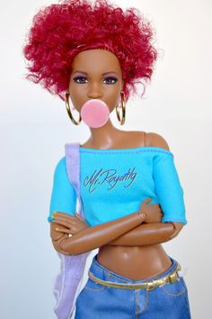 World of Dolls Afro, Beautiful Barbie Dolls, Pretty Dolls, Diva Dolls, Pelo Natural, African American Dolls, Barbie Collection, Barbie World, Barbie Friends