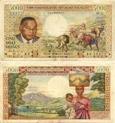 Madagascar 5000 Francs (1966)