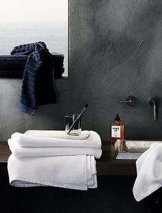 White Waffle Weave Bath Towels