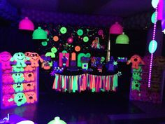 GLOW IN THE DARK PARTY Birthday Party Ideas   Photo 10 of 11   Catch My Party
