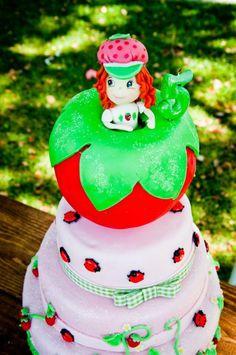 Cutest strawberry shortcake party